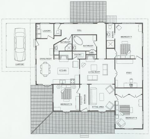 Floor plan of Christian's of Bucks Point
